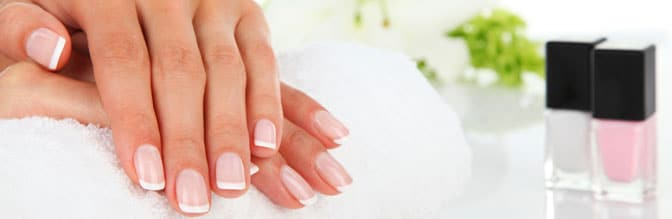 Hands after a manicure.