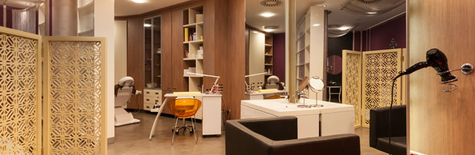 Beauty Salon Interior Shot.