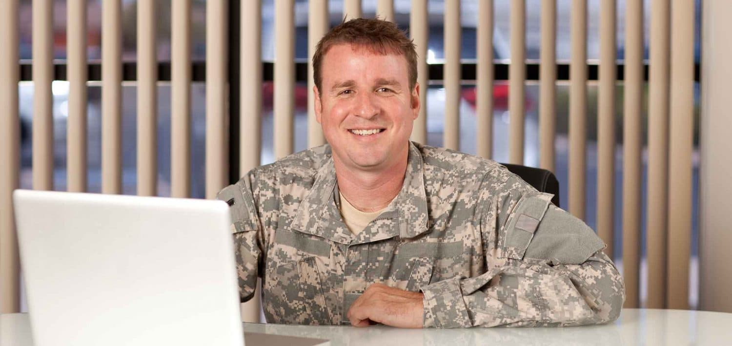 Military student applying online.