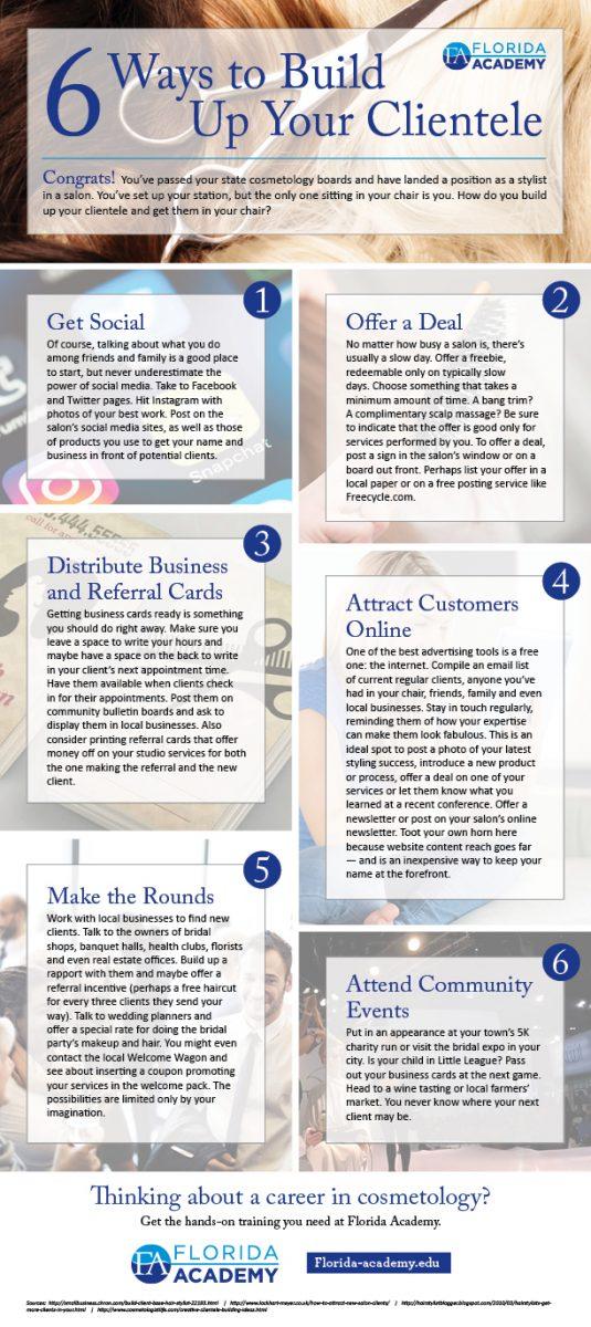 Ways to build your clientele - Florida Academy